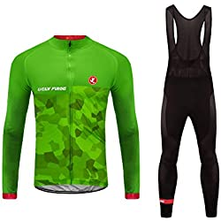 Uglyfrog Sport Mode Off Thermische Fleece Winter Lange Mouw Wielertruien + Bib Broek Lange Fietsbody's Triathlon Kleding TZD01