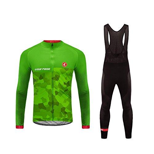 Uglyfrog 2018 Winter Jersey Thermisches Herren Fahrradbekleidung Thermo Trikot Langarm Radfahren Jersey + Fahrradhose Radtrikot Set MENZRW04