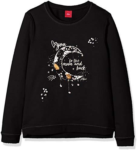 s.Oliver RED Label Junior Mädchen Sweatshirt mit Moon-Artwork Black 116/122.REG