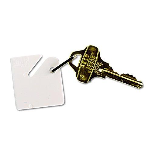 MMF Industries Karabinerverschluss Schlüssel Etikett, Weiß, 20Pro Pack (2013001aa06)