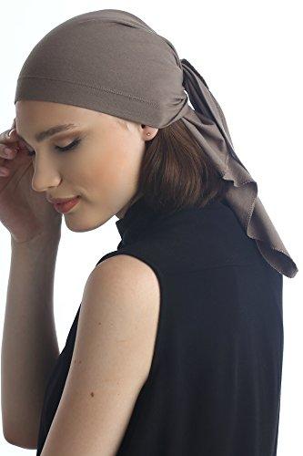 Plaine Unisexe Bandana Pour Perte De Cheveux, Cancer, Chimio Mink