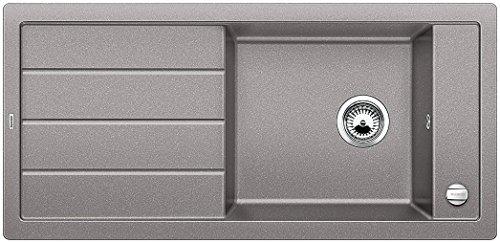 Preisvergleich Produktbild Blanco MEVIT XL 6 S, Küchenspüle, Granitspüle aus Silgranit PuraDur, 1 Stück, alumetallic, 518364