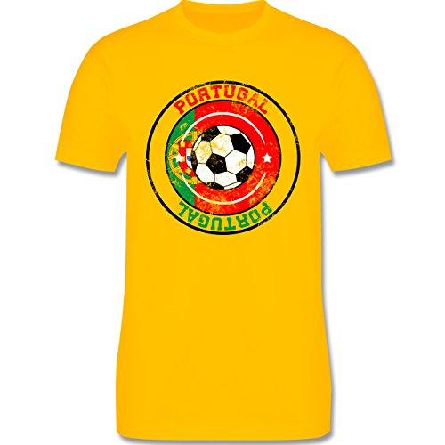 EM 2016 - Frankreich - Portugal Kreis & Fußball Vintage - Herren Premium T-Shirt Gelb