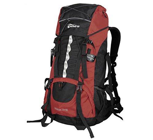 sac à dos randonnée sac Alpinisme 70 + 10L épaules sac à dos masculin avec auvent Sacs à dos de randonnée ( Couleur : Rouge , taille : 70+10L )