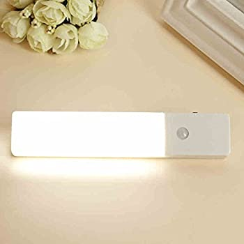 Zeefo 2 Pack Pir Motion Sensor Led Night Light, Usb Rechargeable Wireless Intelligent Wall Sconce Light, Stick On Everywhere 3 Modes Auto On Off For Baby Room Closet, Cabinet ,Wardrobe, Hallway, Kitchen, Drawer, Shed (White) 7