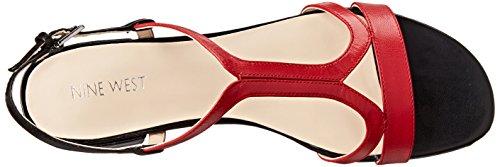 Nine West Nwwhollymole Damen Sandalen rot (ROJO/NEGRO)