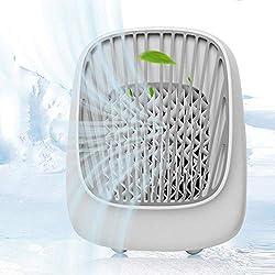 Ventilateur de Bureau Petit Ventilateur de Climatisation, Climatiseur Ventilateurs de Climatisation Pour la Maison Mini Humidificateur Évaporatif Petit Mobile Silencieux Espace Personnel Portable Pou