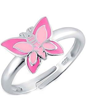 SL-Silver Mädchen Damen Ring Schmtterling Grösse einstellbar 925 Sterling Silber in Geschenkverpackung