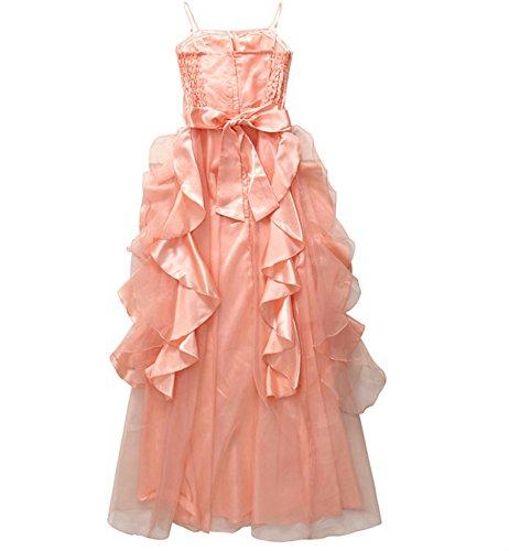 PLARE femmes Cocktail robe de bal robe de soirée Longue robe de mariée Princesse de sangle rose nude