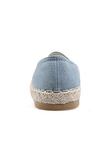 ZQ gyht Damenschuhe - Halbschuhe - Kleid / L?ssig - Denim Jeans - Flacher Absatz - Komfort / Rundeschuh - Blau blue-us6.5-7 / eu37 / uk4.5-5 / cn37