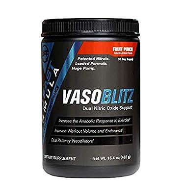 VASOBLITZ Dual Nitric Oxide Support - Fruit Punch - 30 Servings by VASOBLITZ