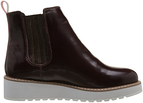Pepe Jeans London Ramsy Chelsea, Stivali Donna Rosso (Burgundy)