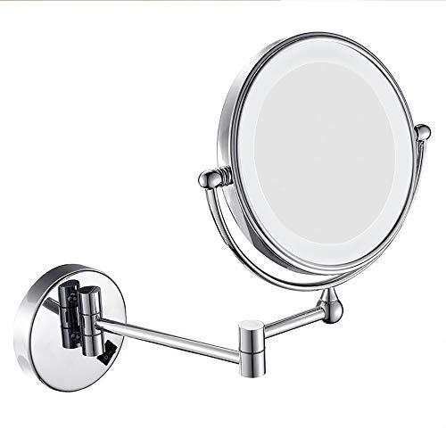 Espejo para afeitar, espejos de pared, lámpara para colgar en la pared espejo para baño espejo telescópico...