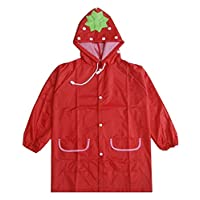 Korean Lovely Baby Raincoat Fashion Children Rainwear Strawberry M