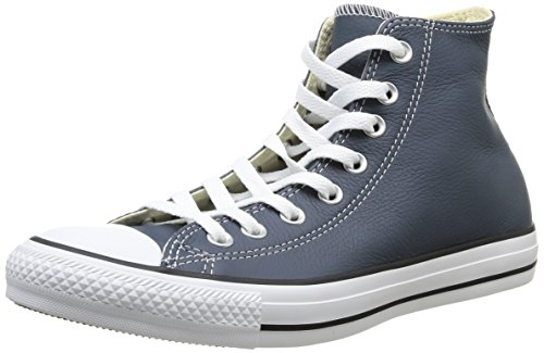 Converse, Chuck Taylor All Star Adulte Seasonal Leather HI, Sneaker, Unisex - adulto blu (Blau (52 BLEU NUIT))