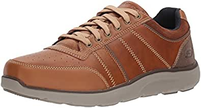 Montego-Barston, Sneaker Uomo, Marrone (Luggage), 42 EU Skechers