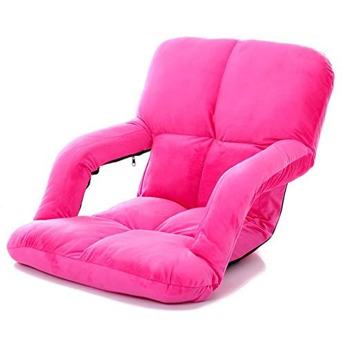 Einzelbett Auf Der Rückseite Kinder-Lesesofa Faulenzer Wohnzimmer Lounge Chair Strand Lounge Chair Schlafsaal Computer Stuhl Taille Ridge (Color : Pink, Size : 58 * 47 * 50cm)