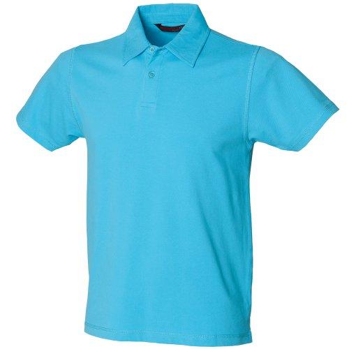 Skini Fit Herren Polo-Shirt Stretch Marineblau