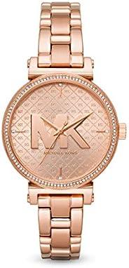 Michael Kors Sofie Women's Rose Gold Dial Stainless Steel Analog Watch - MK