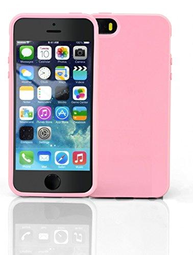 iPhone 55S Cover TPU Rosa pink silicone case custodia protettiva