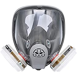 Pour 6800 masque complet masque respiratoire 7pcs kit peinture peinture décoration bois gris