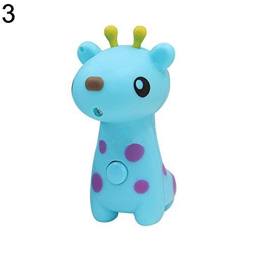 AchidistviQ Cute Cartoon Tier Schlüsselanhänger Anhänger Handtasche Light Music Geschenk Tragbarer Unisex Handy 3#