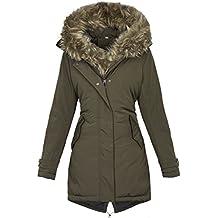 b4958267b909 Golden Brands Selection Warme Damen Winter Jacke Winterjacke Parka Mantel  Kapuze Kunstfell B534