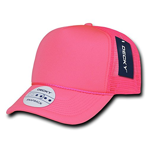 Decky 221 Solid Color Neon Foam Trucker Caps-Pink