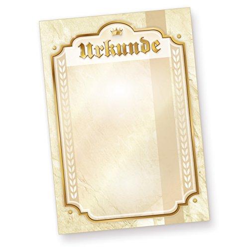Urkunden-Papier Vordrucke A4 (10 Stück) für Verein Sport Geburtstag Hochzeit