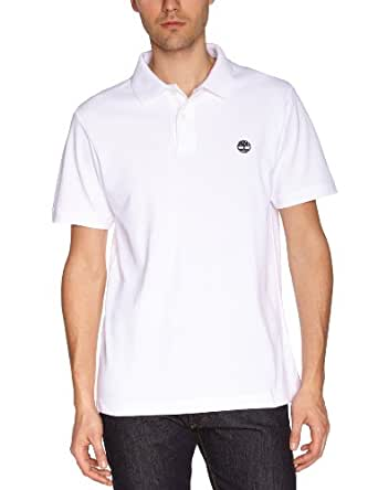 Timberland - Polo - Uni - Manches courtes - Homme - Blanc (White) - Medium (Taille fabricant: M)