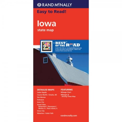 Rand McNally Easy to Read! Iowa State Map