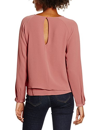 ONLY Damen Bluse Onlmariana Myrina Solid L/S Top Wvn Noos Rosa (Withered Rose)