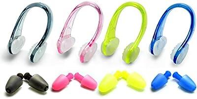 zooshine Set de 4tapones pinza de nariz para natación silicona Kits para adultos