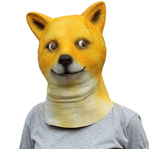 Dog Es Head Maske Maskierten Hund Lustige Tiermasken Hund Kopf Maske Halloween Cos Tiermaske
