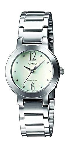 Casio orologio analogico al quarzo donna con cinturino in acciaio inox ltp-1282d-7aef