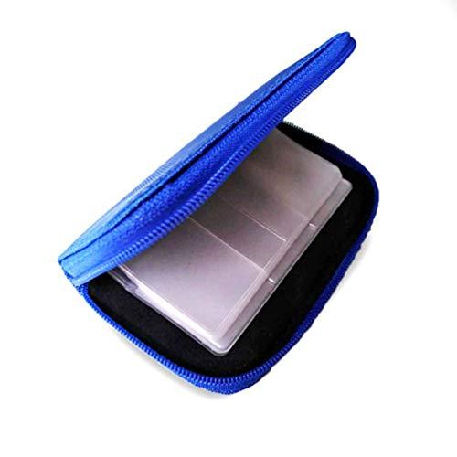 Wenwenzui Durable Memory Card Storage Bag Holder Secure Digital Card Phone Camera Pack Blue Universal Memory Card Wallet