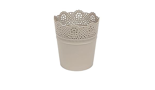 Beige 2,8 litri di fiori vaso Ø 16 cm VASO 18,5 cm di altezza ORCHIDEE VASO punte