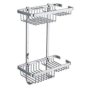 Bagno in acciaio inox a due piani di stoccaggio carrello for Piani di progettazione di stoccaggio garage