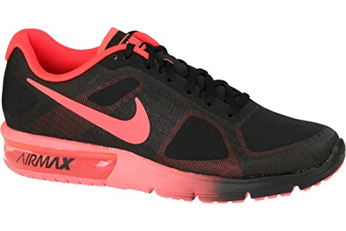 Nike Air Max Sequent - Scarpe da corsa, colore Nero (black / total crimson), taglia 42 1/2