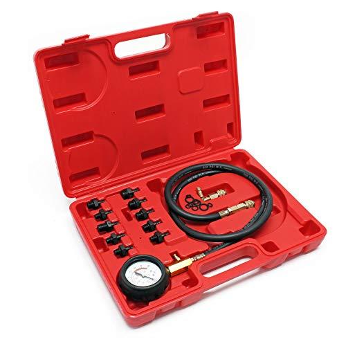 Öldrucktester Set 12tlg. Öldruckprüfer Öl-Meßgerät 0-10bar 0-140psi Öl-Messer Prüfgerät Öldruck