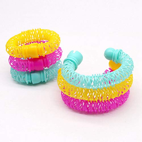 8Pcs Magie Donut Rollers - Spiral-Plastikhaar Curly Lockenwickler Locken Rolle Ringlets Welle Friseurpflege Frisur Maker Styling-Werkzeug, Big