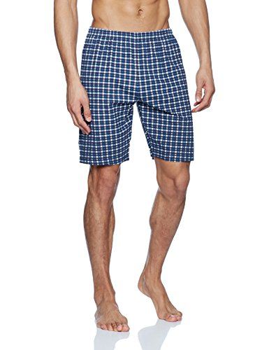 TOM TAILOR Herren Zweiteiliger Schlafanzug Shorty, V-ausschn. Blau (mood Indigo 7266)