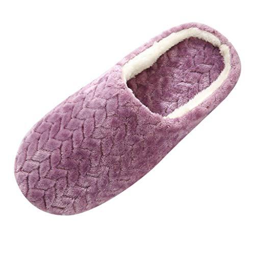 Zapatillas de Estar por casa para Mujer Inverno Caliente de Peluche Zapatos Memory Foam...
