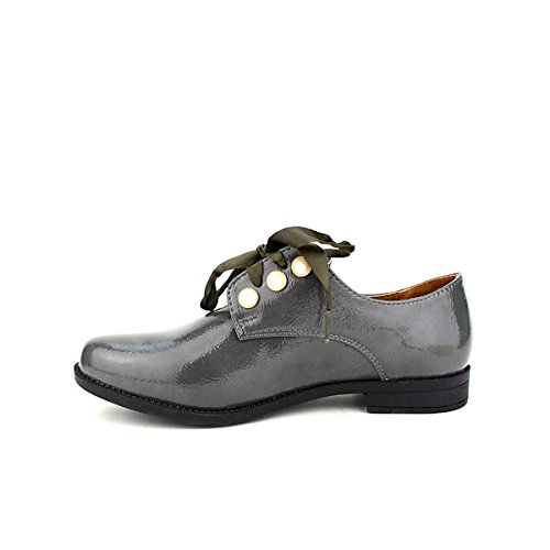 Cendriyon Derbies Grey Vernies CINKS Looks Chaussures Femme Gris