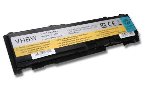 vhbw Li-Ion Akku 3600mAh (11.1V) schwarz für Notebook, Laptop Lenovo Thinkpad T400s,...