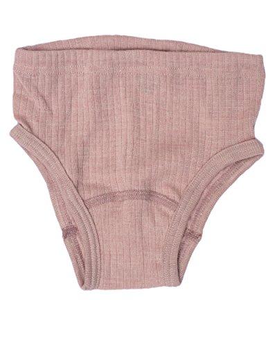 Cosilana, Kinder Slip / Unterhose hoher Beinausschnitt, 45% kbA Baumwolle, 35% kbT Wolle, 20% Seide (92, Pink Meliert)