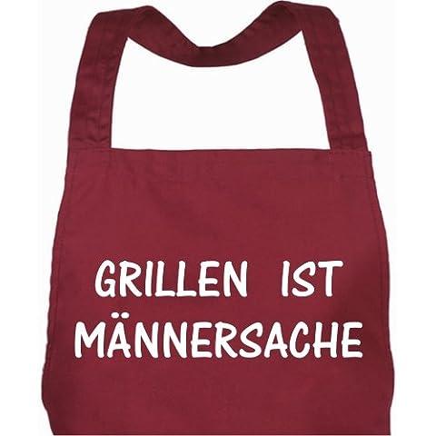 De cocina de o parrilla delantal con diseño de bolsillo y un original diseño con texto en alemán de los hombres de asar a la parrilla es objeto de/delantal de asar a la parrilla