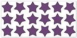 wandfabrik - Fahrradaufkleber 18 Sterne in violett - Wandtattoo geeignet als Dekoration Klebefolie Wandbild Wanddeko Tiere für Wohnzimmer Kinderzimmer Babyzimmer Badezimmer Fliesen Tapete Küche Flur Wohnung und Schlafzimmer für Junge Mädchen Baby Kinder Wandtattoos