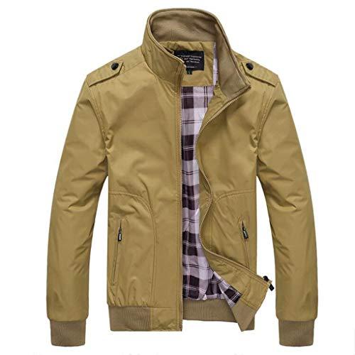 MakefortuneMens Jacket Casual Stilvolle Bomber Coat Leichte Vintage Outwear Jacken und - Bomber Jacke Aus Top Gun Kostüm