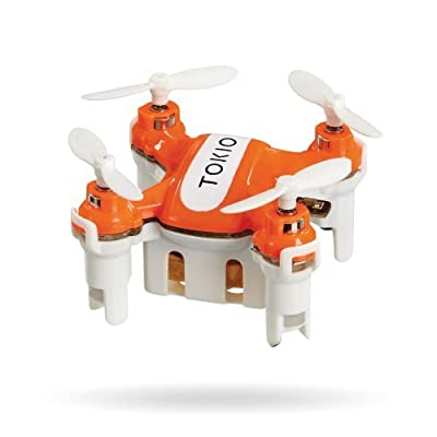 Tokio Radio Controlled Nano Quadcopter DRONE with LED Lights - Fun Micro Mini Drone Toy - 3cm